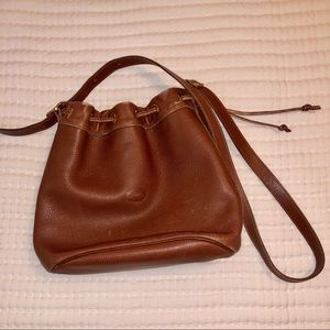 Vintage leather longchamp bag